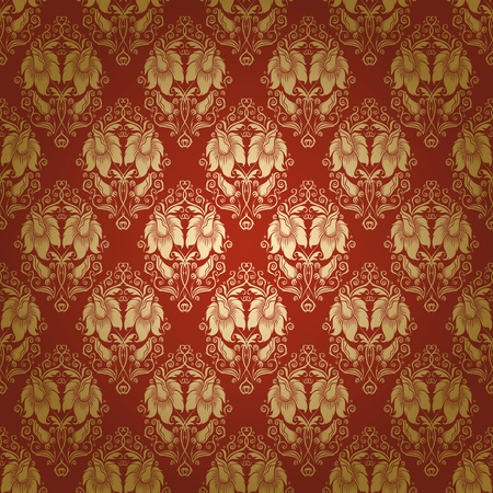 renaissance art: damask seamless floral pattern Illustration
