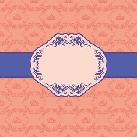 lattice frame: Template frame design for greeting card   Illustration