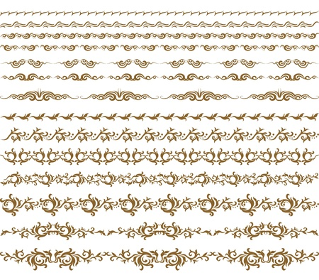 Horizontal elements decoration vector Stock Vector - 12776634