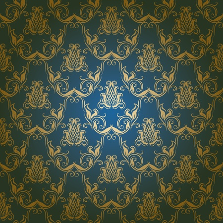 classy background: seamless damask floral pattern