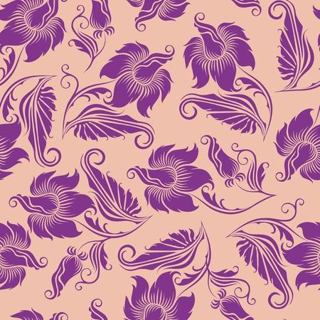 victorian fashion: seamless floral pattern