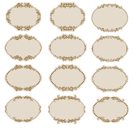 rococo: Set of ornate vector frames