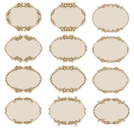 Set van sierlijke vector frames Stock Illustratie