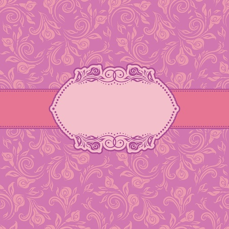 Template frame design for greeting card   Seamless background  Illustration
