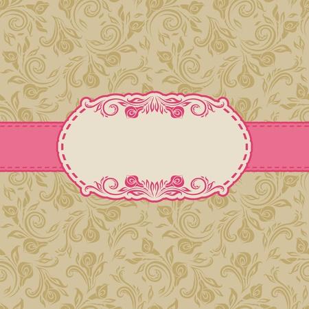 cartoline vittoriane: Template design del telaio per lo sfondo cartolina Seamless
