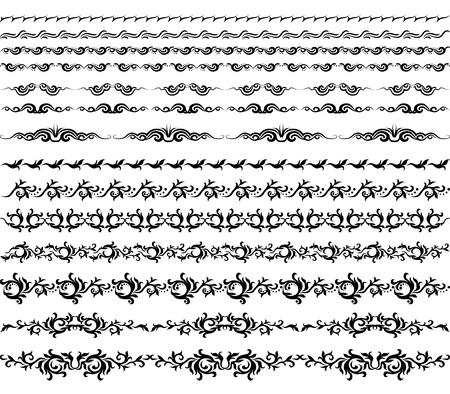 Horizontal elements decoration vector Stock Vector - 13243545