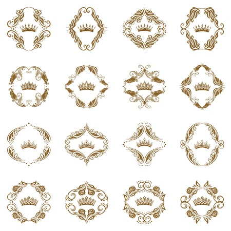Victorian crown and decorative elements  Stock Vector - 13292406