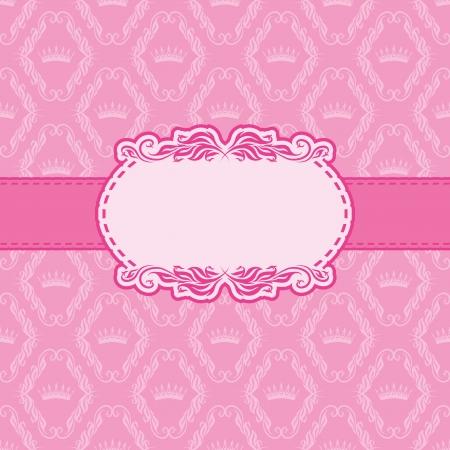 Template frame design for greeting card   Illustration