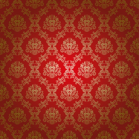 damask seamless floral pattern Illustration