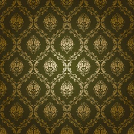 brocade: damask seamless floral pattern Illustration