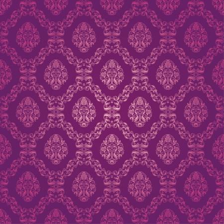damask seamless floral pattern  イラスト・ベクター素材