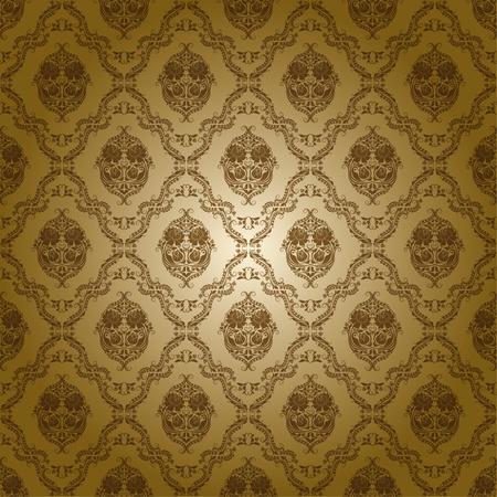 damask seamless floral pattern Çizim