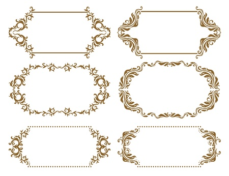 Set of ornate  Vector