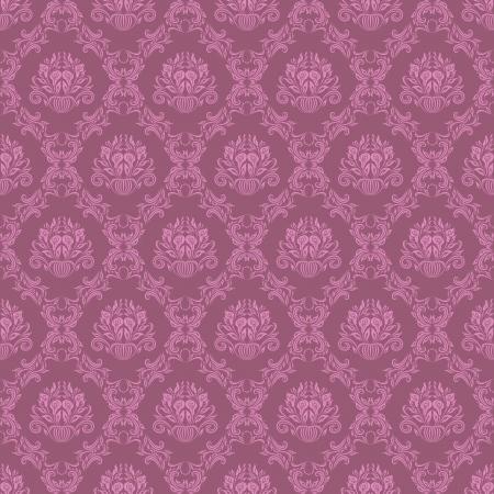 damask seamless floral pattern Illustration