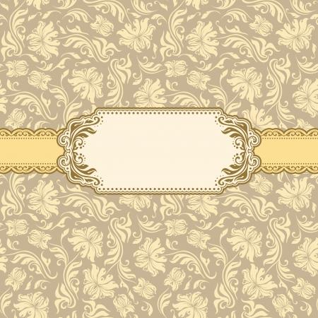 Template frame design for greeting card   일러스트