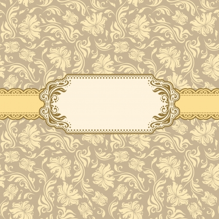 Template frame design for greeting card   Illustration