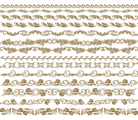 Horizontal elements decoration Stock Vector - 13763407