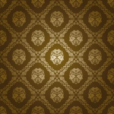 damast naadloze bloemmotief Stock Illustratie