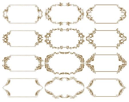 Set of ornate vector frames Stock Vector - 13963398