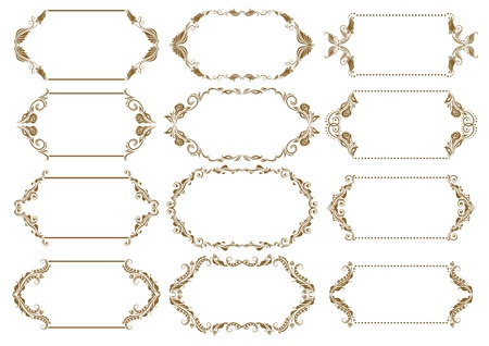 Set of ornate frames Stock Vector - 13963400