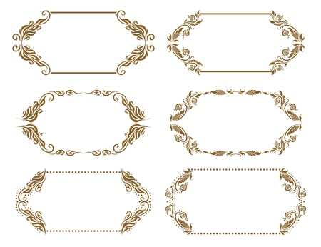 Set of ornate vector frames Vector