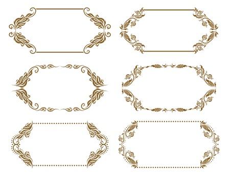 Set of ornate vector frames Stock Vector - 13985898