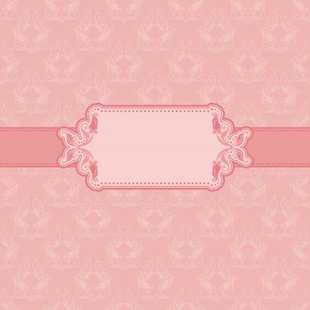 art deco border: Template frame design for greeting card   Background - seamless pattern