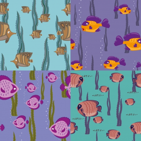 seamless pattern pink fish Stock Vector - 14263619