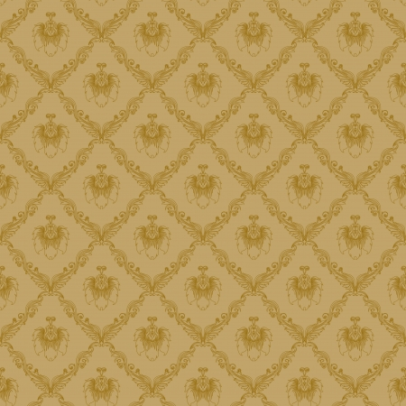Damask seamless floral pattern  Flowers on a beige background