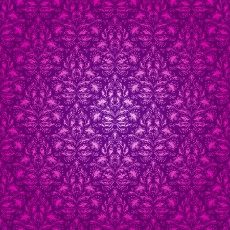 Damask seamless floral pattern  Flowers on a purple background  EPS 10 Vector