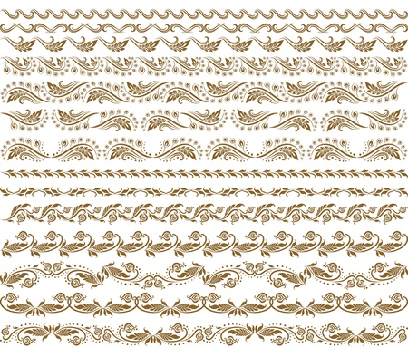Set of vector borders,  decorative elements for design  Page decoration  Vector