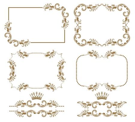 refine: insieme di elementi decorativi orizzontale, confine e pagina cornice decorazione