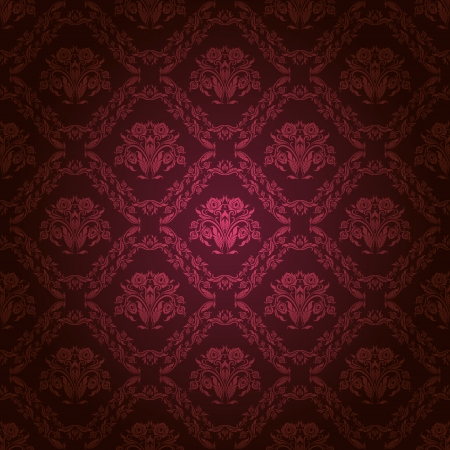 Damask seamless floral pattern  Royal wallpaper  Flowers on a dark background