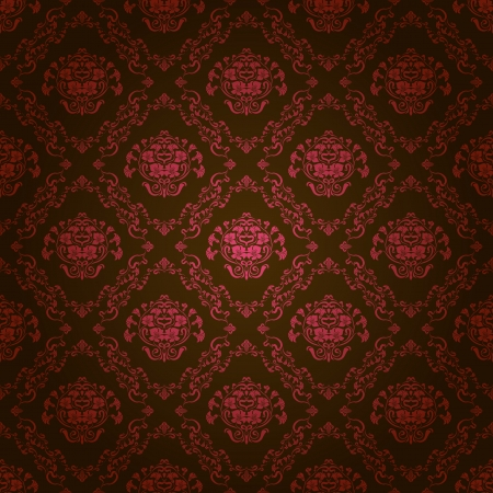 Damask seamless floral pattern  Royal wallpaper  Flowers on a dark background  EPS 10 Vector