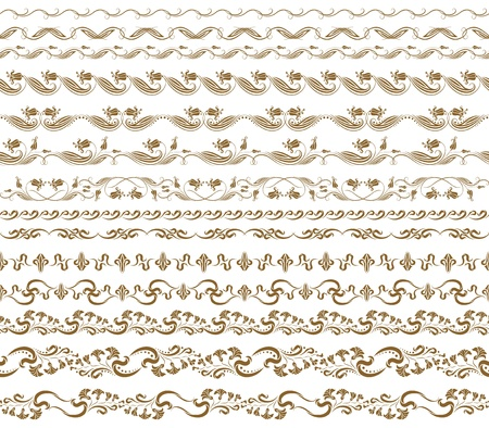 Set of vector borders,  decorative elements for design  Page decoration Stock Vector - 16529625