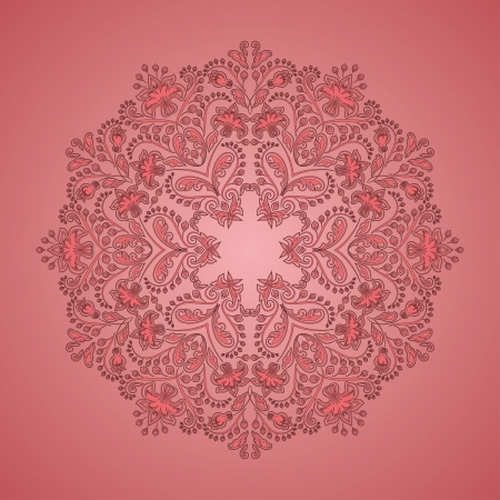 Ornate round lace pattern, circle background with floral details  Vintage lace ornament Stock Vector - 16730016