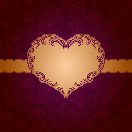 Plantilla de diseño de marco para el fondo tarjeta del día de San Valentín s - seamless pattern