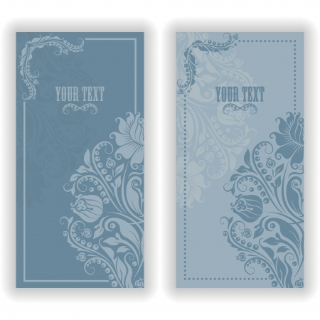 Template design for invitation with damask ornaments  Vector illustration in vintage style Stock Vector - 17503573