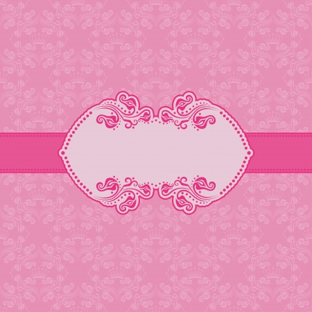 brocade: Template frame design for greeting card . Background - seamless pattern.
