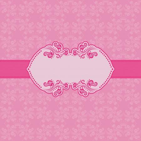 Design del modello telaio per biglietto di auguri. Sfondo - seamless pattern.