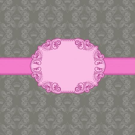 Vector sjabloon frame ontwerp voor wenskaart achtergrond - naadloos patroon