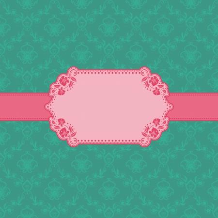 cartoline vittoriane: Vector cornice modello di progettazione per lo sfondo cartolina d'auguri - seamless pattern Vettoriali