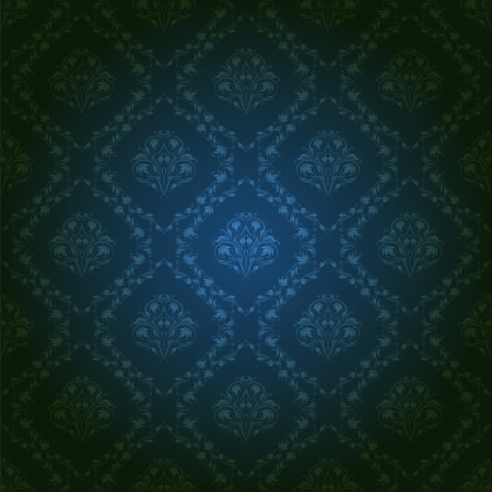 classy background: Damask seamless floral pattern  Royal wallpaper  Flowers on a dark background  EPS 10