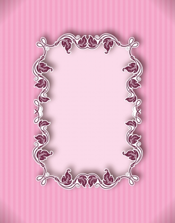 template frame design for greeting card, banner, invitation, menu, cover  In vintage style   Vector