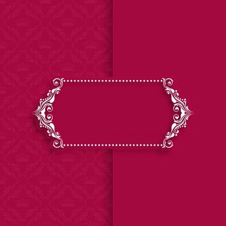 Vector sjabloon frame ontwerp voor de wenskaart, banner, uitnodiging, menu, dekking in vintage stijl Stock Illustratie