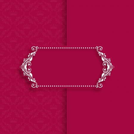 victorian border: Vector template frame design for greeting card, banner, invitation, menu, cover  In vintage style
