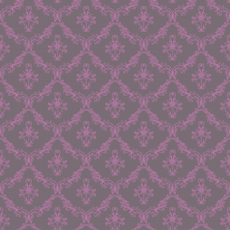 Damask seamless floral pattern  Flowers on a gray background  Vector