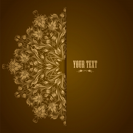 Elegant background with lace ornament and place for text  Floral elements, ornate background  Vector illustration  EPS 10  Vector