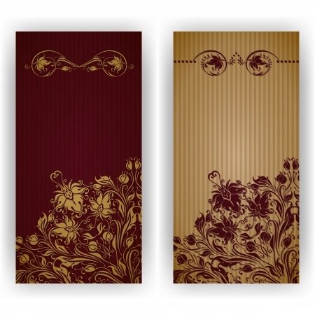 Template design for invitation with damask ornaments  Vector illustration  EPS 10 Vector