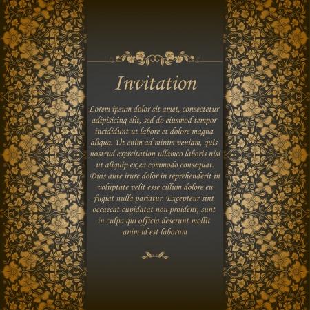 Fondo adornado elegante con encaje transparente ornamento para las invitaciones, tarjetas de felicitación, elementos florales del menú, el lugar de texto Foto de archivo - 21382810